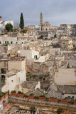 View of matera UNESCO world heritage site royalty free stock image