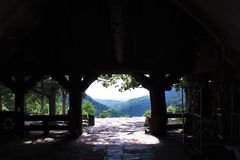 View from Mather Lodge at Petit Jean State Park Royalty Free Stock Photos