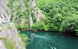 View of the Matka canyon Royalty Free Stock Image