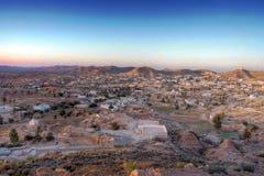 View on Matmata. Sunset time view on Matmata, Tunisia Stock Photos