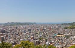 View of Matsuyama town, Shikoku Island, Japan Stock Images
