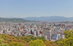 View of Matsuyama town, Shikoku Island, Japan Royalty Free Stock Photos