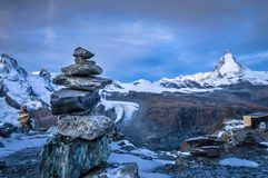 The view of the Matterhorn. This is the view of the Matterhorn as seen from the Gornergrat stock photo