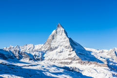 View of Matterhorn on a clear sunny day Stock Photography