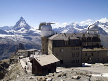 View on Matterhorn from Gornergrat station Stock Photography
