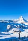 View of Matterhorn from Gornergrat Royalty Free Stock Photography