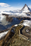 View of Matterhorn mountain, Gornergrat, Zermatt Royalty Free Stock Photos