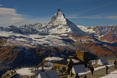 View of Matterhorn mountain, Gornergrat, Zermatt Stock Photos