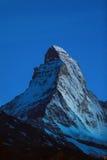 View of Matterhorn Mt. at night at Zermatt. Switzerland Stock Image