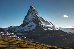 View of Matterhorn Mt. at Zermatt. Switzerland Stock Image