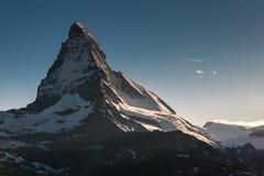 View of Matterhorn Mt. at Zermatt. Switzerland Royalty Free Stock Image