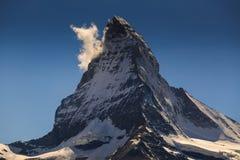 View of Matterhorn Mt. at Zermatt. Switzerland Royalty Free Stock Photos