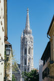 View of the Matthias church Royalty Free Stock Image