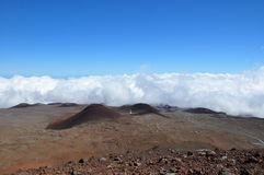 View from Mauna Kea - Big Island, Hawaii Stock Photography