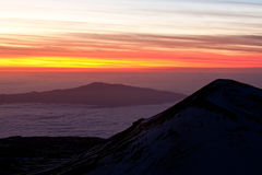 View from Mauna Kea at Sunset Royalty Free Stock Image