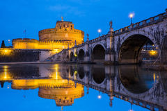 View of the Mausoleum of Hadrian, Saint Angelo castle, Castel Sa Stock Photography