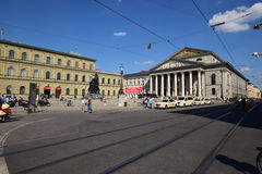 View in the MAX-JOSEPH-PLATZ square in Munich, Germany Royalty Free Stock Photos