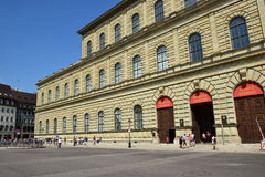 View in the MAX-JOSEPH-PLATZ square in Munich, Germany Royalty Free Stock Photography