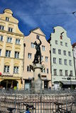 View in MAXIMILIANSTRASSE street in Augsburg, Germany Stock Photos