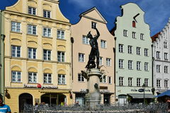View in MAXIMILIANSTRASSE street in Augsburg, Germany Stock Images