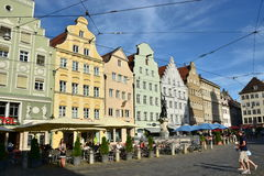 View in MAXIMILIANSTRASSE street in Augsburg, Germany Royalty Free Stock Image