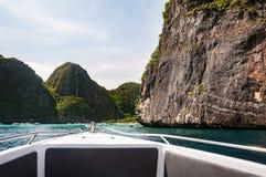 View of Maya Bay, Phi Phi island, Thailand Royalty Free Stock Photography