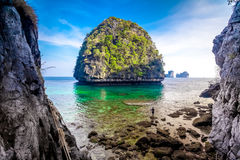 View of Maya Bay, Phi Phi island, Thailand Stock Photography