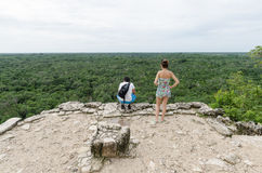 View from a Mayan pyramid at coba,cancun,mexico Royalty Free Stock Photography