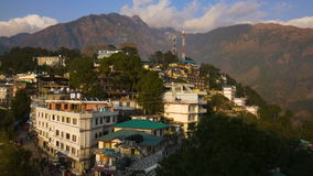 View of Mcleod Ganj in India, Dharamsala stock video footage