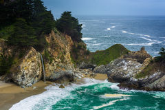 View of McWay Falls, at Julia Pfeiffer Burns State Park  Stock Photo