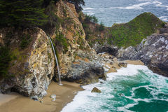 View of McWay Falls, at Julia Pfeiffer Burns State Park  Royalty Free Stock Image