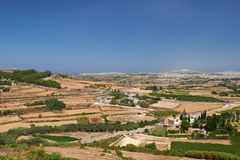 The view from the Mdina to the countryside surrounding the old c Royalty Free Stock Photo