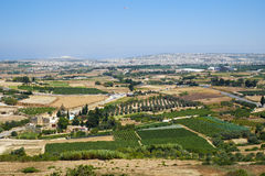 View from the Mdina to the countryside surrounding the old capit Royalty Free Stock Image