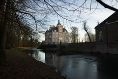 View of mediaeval castle Soelen in the evening. Illuminated by the evening sun in wintertime Stock Photo