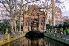 Paris - The Medici Fountain stock photo