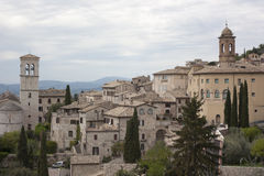 View of medieval assisi town Royalty Free Stock Photo
