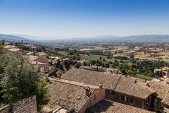 View of medieval Assisi town, Italy Royalty Free Stock Photo
