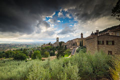 View of medieval assisi town in italy Stock Photo