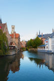 View of medieval Bruges Stock Images
