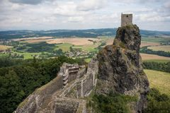View of Medieval castle in Czech Republic Royalty Free Stock Images