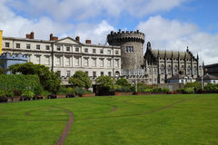 View of the medieval castle of Dublin Stock Photography