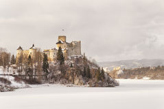 View of the medieval castle in Niedzica, Poland Stock Photography