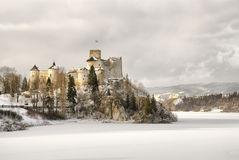 View of the medieval castle in Niedzica, Poland Royalty Free Stock Photo