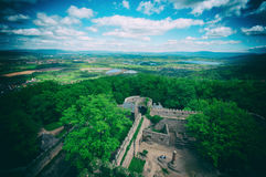 View from Medieval castle Stock Photography
