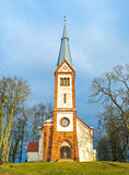 View on the medieval church in Krimulda, Latvia, Europe Stock Photos