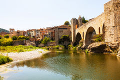 View of Medieval city. Besalu Royalty Free Stock Photography