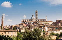 View of the medieval city of Siena, Tuscany Stock Photos