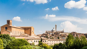 View of the medieval city of Siena, Tuscany Royalty Free Stock Images