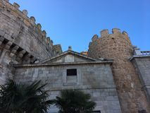View of the medieval city walls in Avila, Spain. Photo taken in 2017 Royalty Free Stock Photos