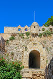 View of the  medieval fortress gate Stock Photography